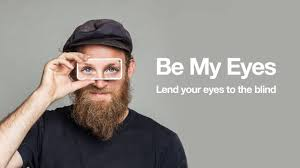 man holding phone up to his eyes