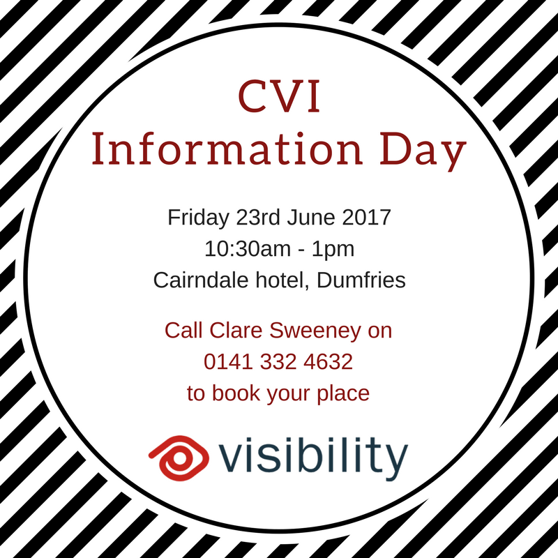 circle which says CVI information day and the date, time and location listed in the article below