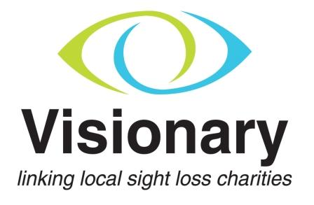 visionary logo linking local sight loss charities