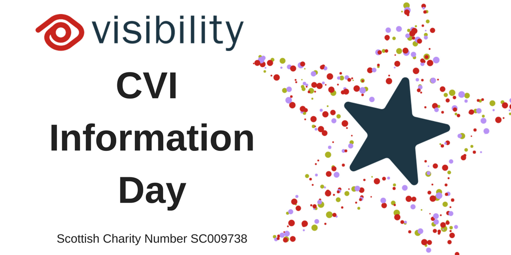 "Visibility logo and text which says ""CVI Information Day"" next to ain image of a colourful star"